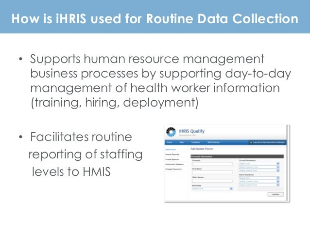 RHINO Forum Kickoff: iHRIS Open Source HR Information Solutions