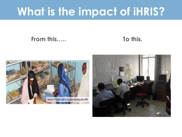 What is the impact of iHRIS? From this….. To this.