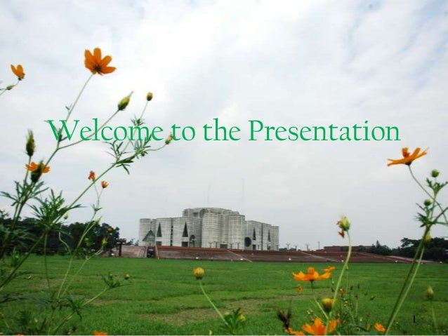 Welcome to the Presentation 1