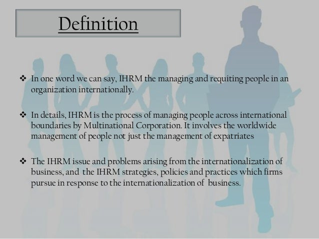 The concept of ihrm