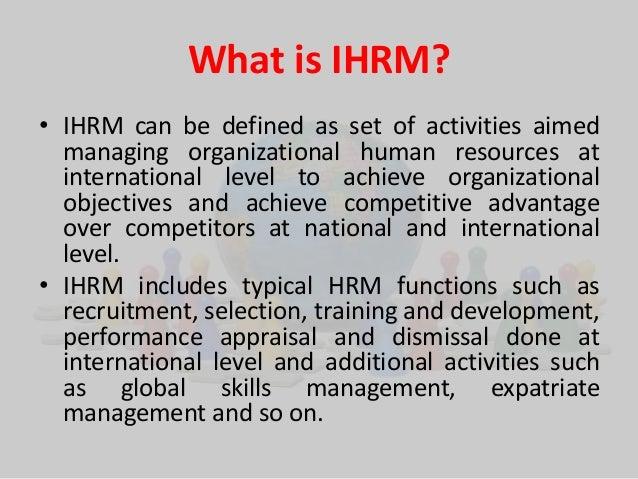 scope of international human resource management