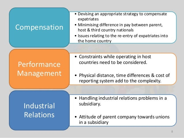 Ethnocentric approach differences between expatriates and local employees