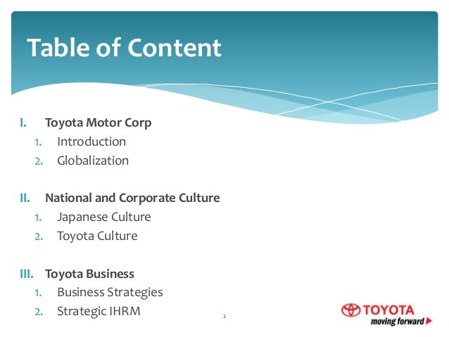 toyota international human resource management Human resource management is defined as a strategic and coherent approach for the organization's most valued assets behind on the workers, there is no upon description of it personnel department is mostly.