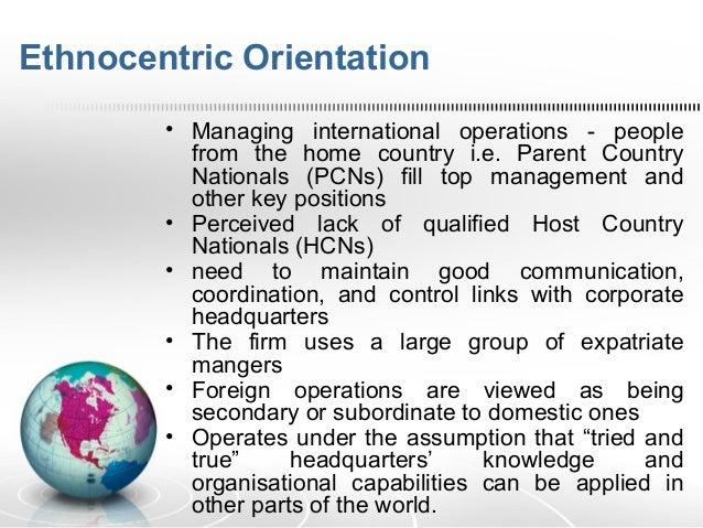 ethnocentric staffing