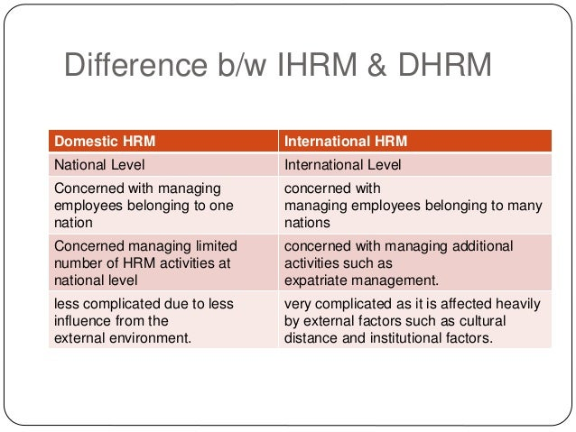 human resource management in international expansion This article presents the types of human resource management issues in international business, the types of staffing policy approaches in international hrm, and the use of expatriate management in the case of the uae.