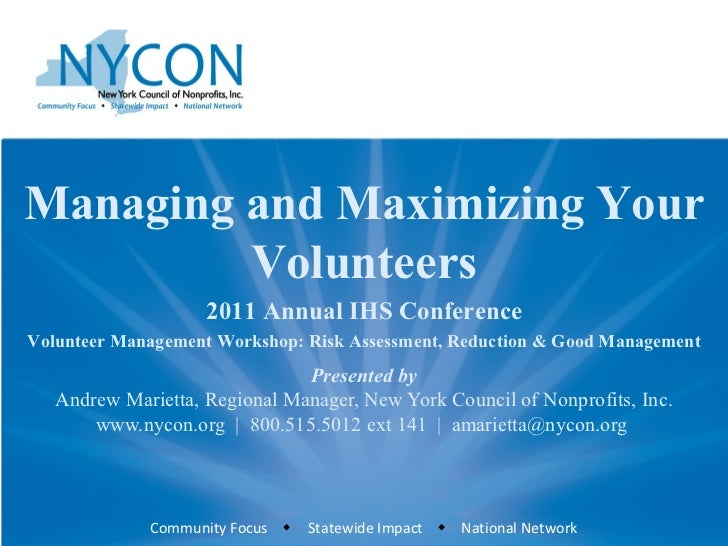 Presented by Andrew Marietta, Regional Manager, New York Council of Nonprofits, Inc. www.nycon.org  |  800.515.5012 ext 14...