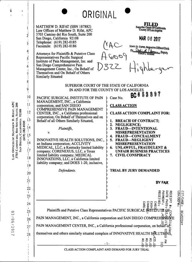 p-stim class action medicare fraud lawsuit