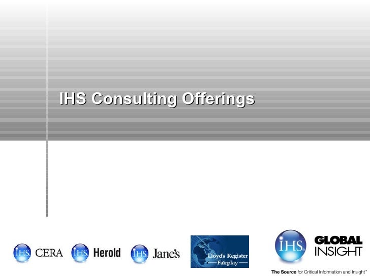 IHS Consulting Offerings