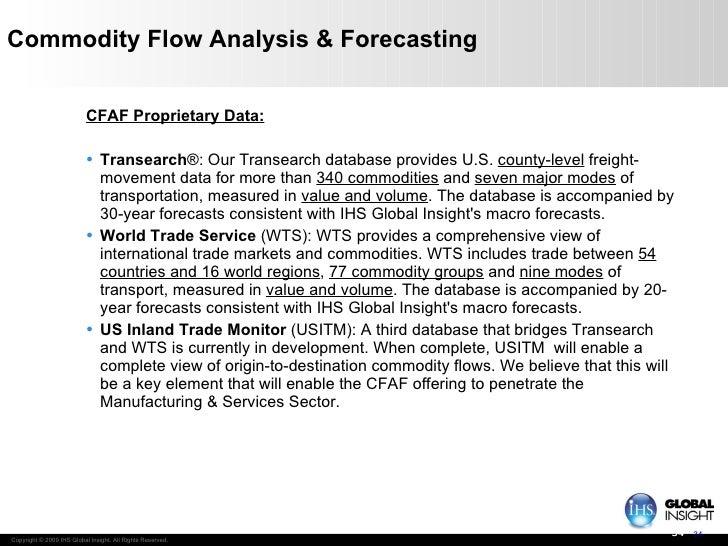 Commodity Flow Analysis & Forecasting <ul><li>CFAF Proprietary Data: </li></ul><ul><li>Transearch ®: Our Transearch databa...