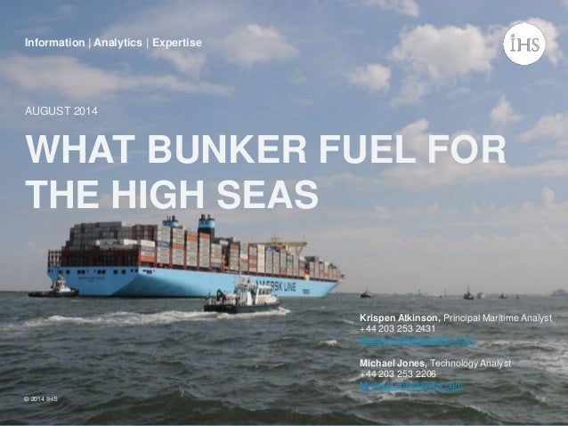 IHS Maritime and Trade bunker fuel study