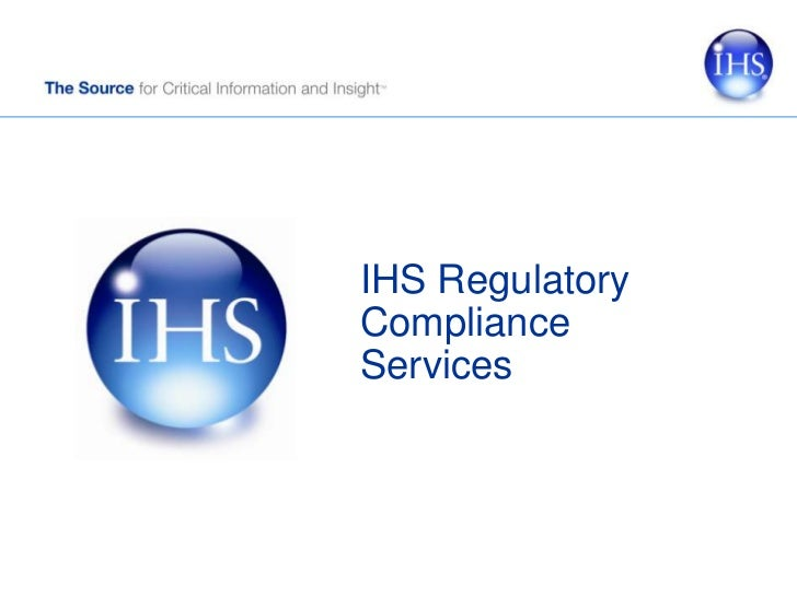 IHS Regulatory Compliance Services<br />