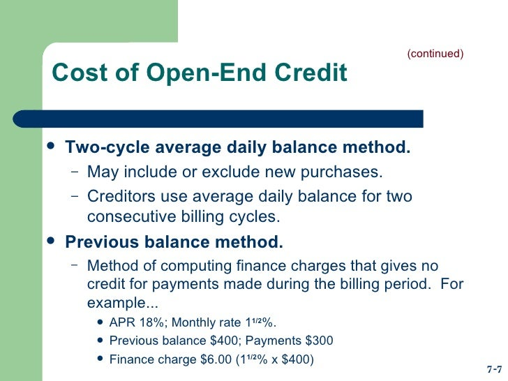 Husc 3366 Chapter 5 Consumer Credit