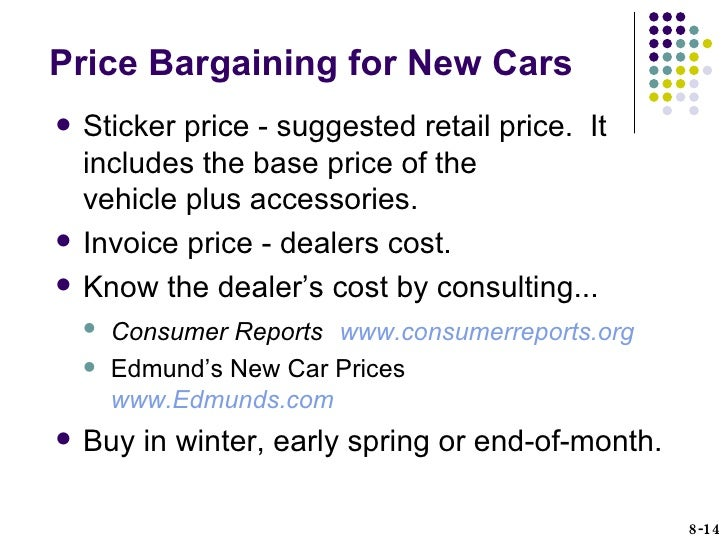 HUSC Chapter Consumer Purchasing Strategies - Edmunds new car invoice price