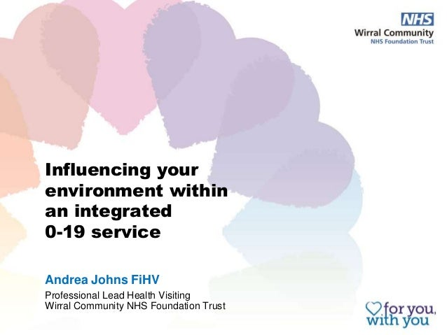 Influencing your environment within an integrated 0-19 service Andrea Johns FiHV Professional Lead Health Visiting Wirral ...