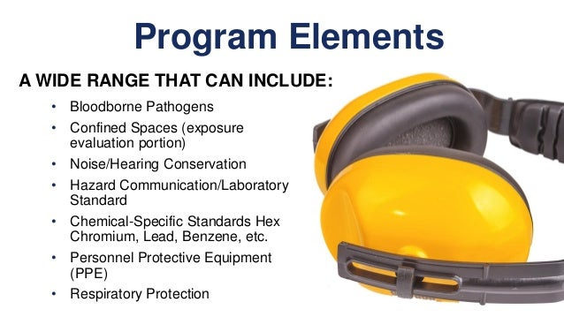 the 14 elements of a successful safety and health program Eight elements of a health and safety management system            4  effective workplace health and safety management systems employers/  do you take an active role in all aspects of your health and safety program note: this is not a comprehensive list it should be considered only an indicator.