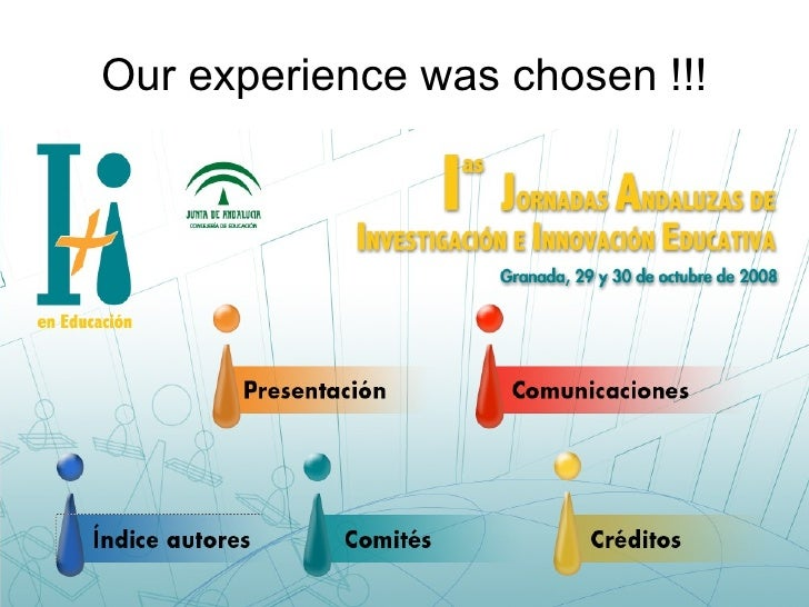 Our experience was chosen !!!