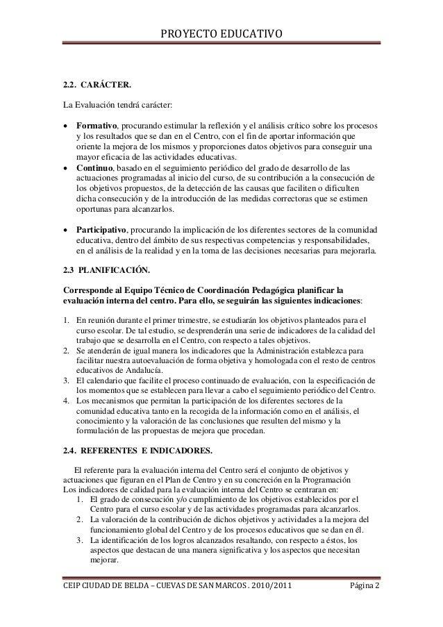 Ii.6. procedimientos de evaluación interna Slide 2