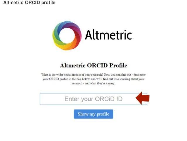 Altmetric ORCID profile