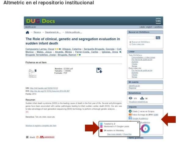 Altmetric en el repositorio institucional