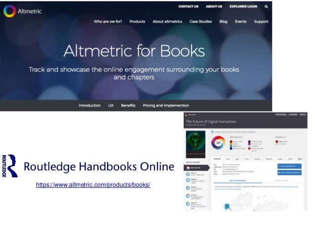Encontrando Repositorios institucionales (+ catálogos) utilizan Altmetrics http://f1000research.com/articles/4-192/v1
