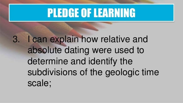 describe relative and absolute dating