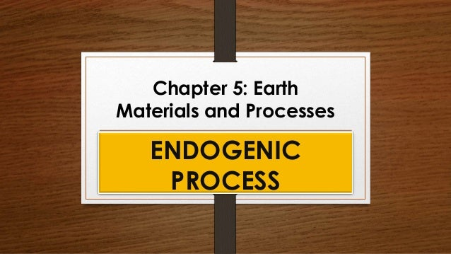 Chapter 5: Earth Materials and Processes ENDOGENIC PROCESS