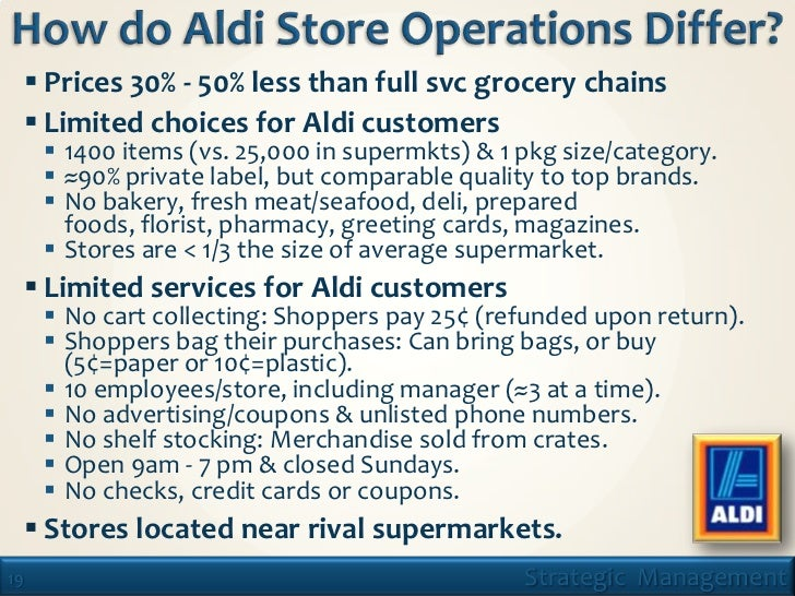 aldi value chain analysis Essay strategic analysis of aldi overall shopping experience53 like all the other supermarkets, franklins also aims to improve supply value chain management and update administration systems.