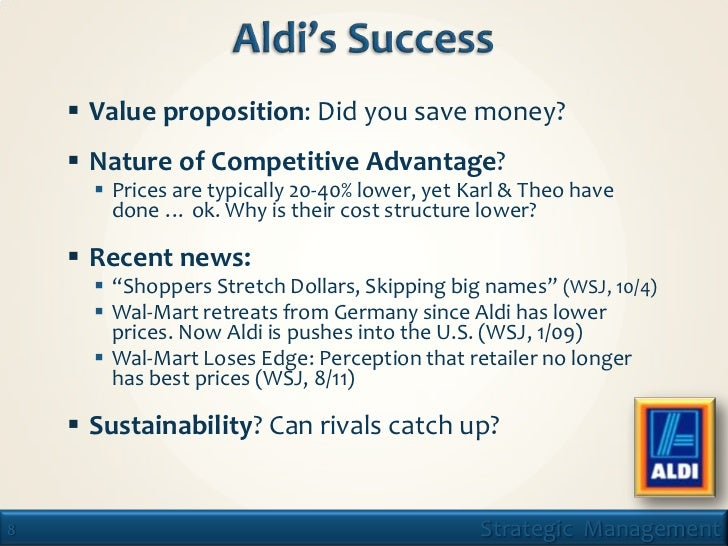 lean production aldi Two german competitors — aldi and lidl — are a major driving force they're  known for  both german chains go for a store that's compact, lean and efficient   that helps drop the cost of production and the cost at the store.