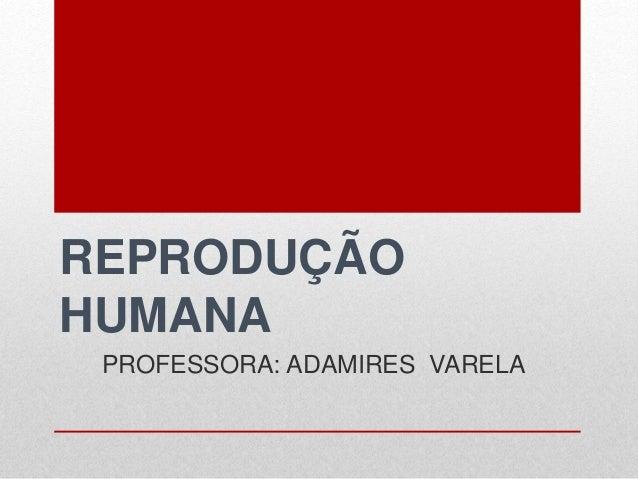 REPRODUÇÃO HUMANA PROFESSORA: ADAMIRES VARELA