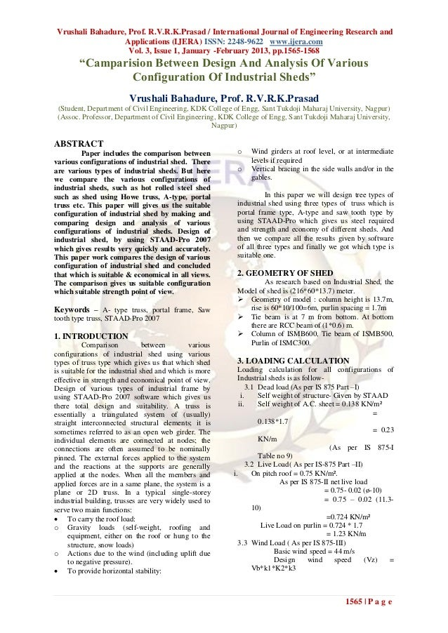 Vrushali Bahadure, Prof. R.V.R.K.Prasad / International Journal of Engineering Research and                 Applications (...