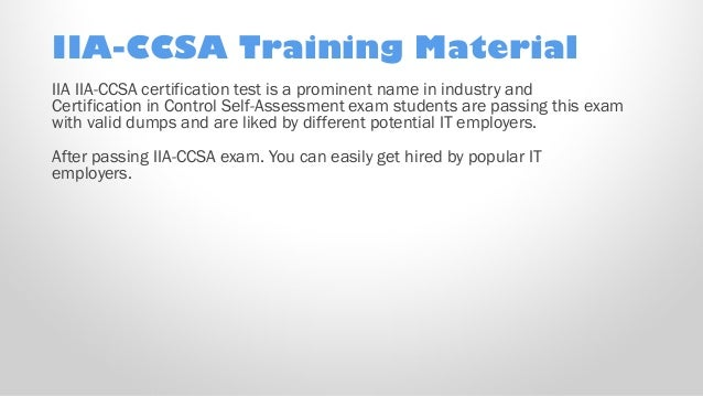 IIA CCSA PDF Practice Test Free IIA IIA CCSA Sample test