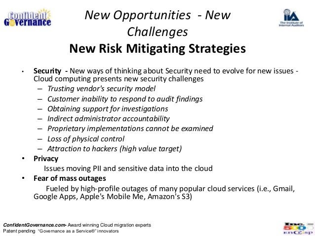 New Opportunities - New                                    Challenges                           New Risk Mitigating Strate...