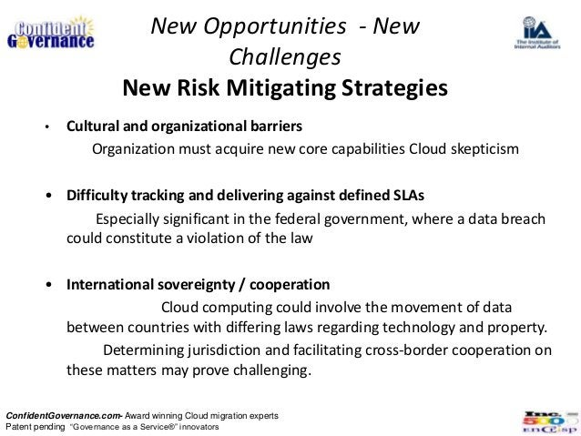 New Opportunities - New                                   Challenges                          New Risk Mitigating Strategi...