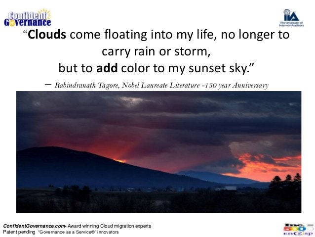 """""""Clouds come floating into my life, no longer to                               carry rain or storm,                       ..."""