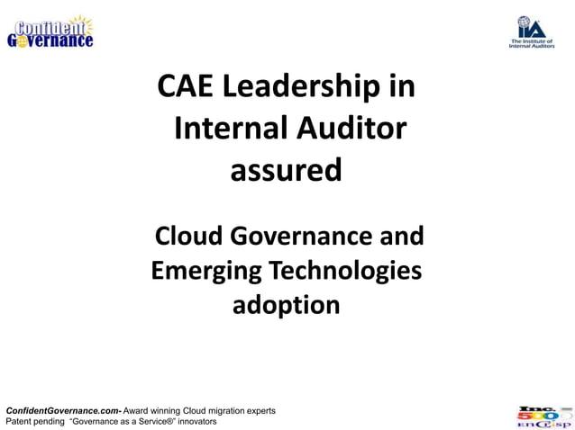 CAE Leadership in                                   Internal Auditor                                       assured        ...