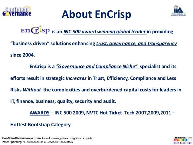 """About EnCrisp                                  is an INC 500 award winning global leader in providing     """"business driven..."""