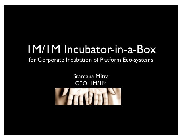 1M/1M Incubator-in-a-Box for Corporate Incubation of Platform Eco-systems Sramana Mitra CEO, 1M/1M