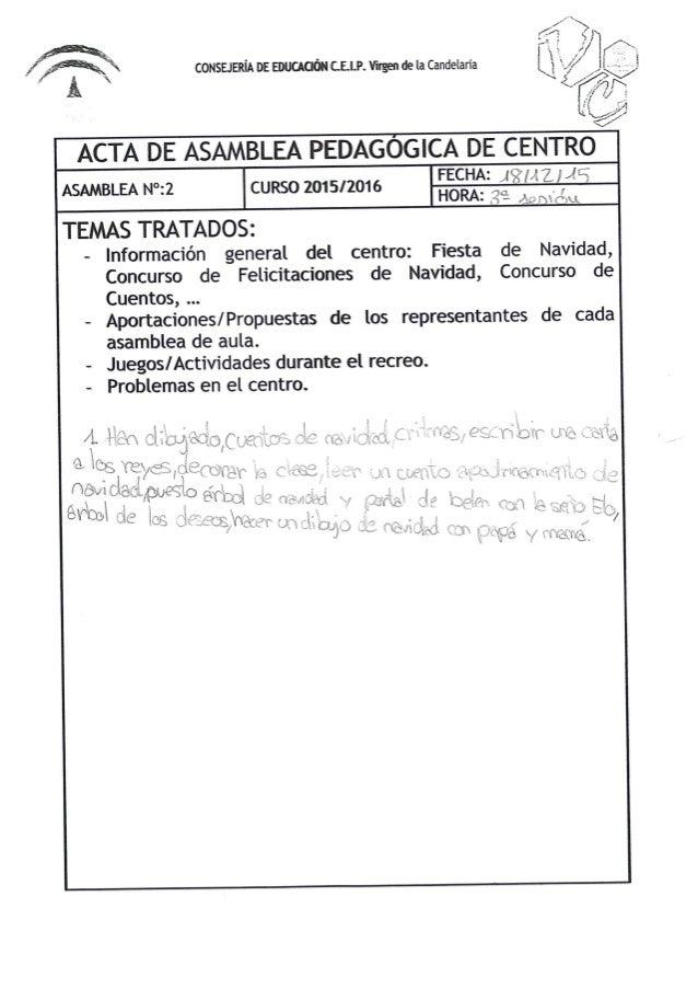 II ASAMBLEA PEDAGÓGICA DE CENTRO