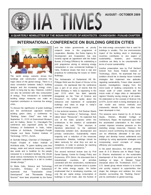 iia times newsletter august october 2009