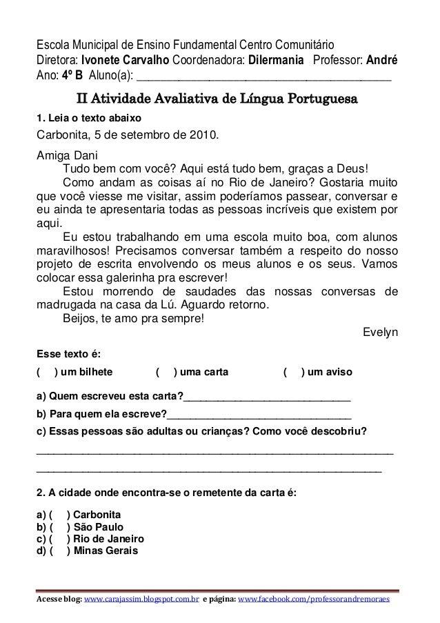 Acesse blog: www.carajassim.blogspot.com.br e página: www.facebook.com/professorandremoraes Escola Municipal de Ensino Fun...