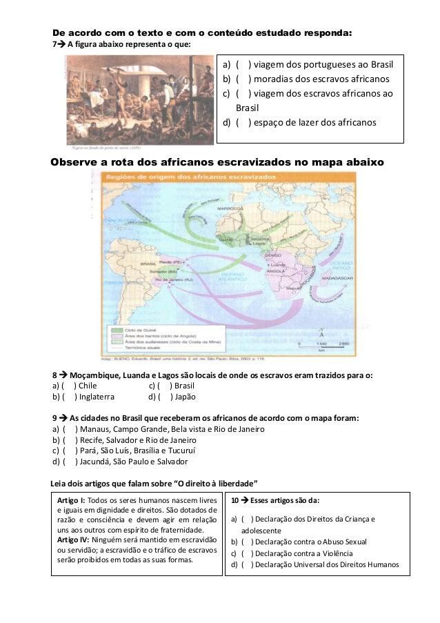 Atividade avaliatíva de hist 4º e 5º ano pdf Slide 2