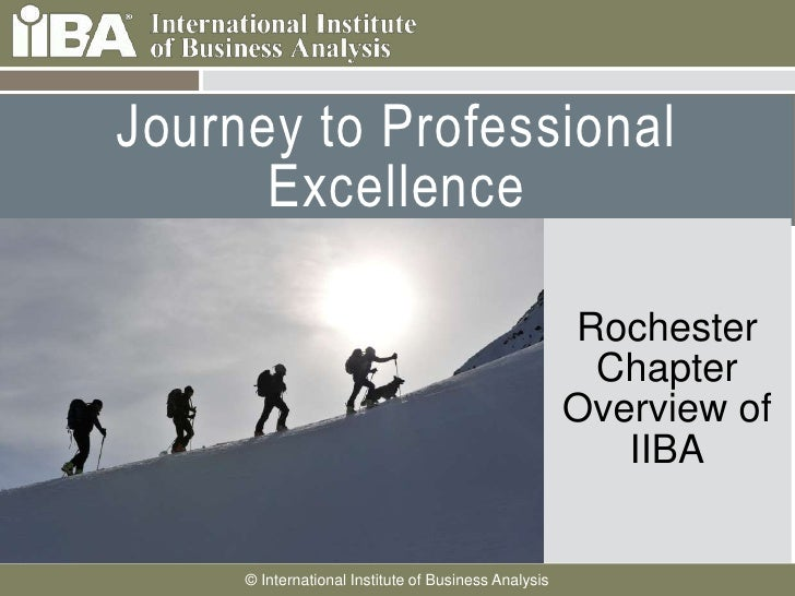 Journey to Professional Excellence<br />Rochester Chapter Overview of IIBA<br />