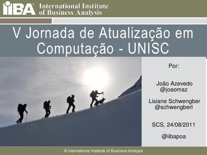 V Jornada de Atualização em    Computação - UNISC                                                                         ...