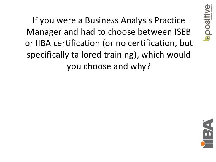 Business Analysis Certification Questions