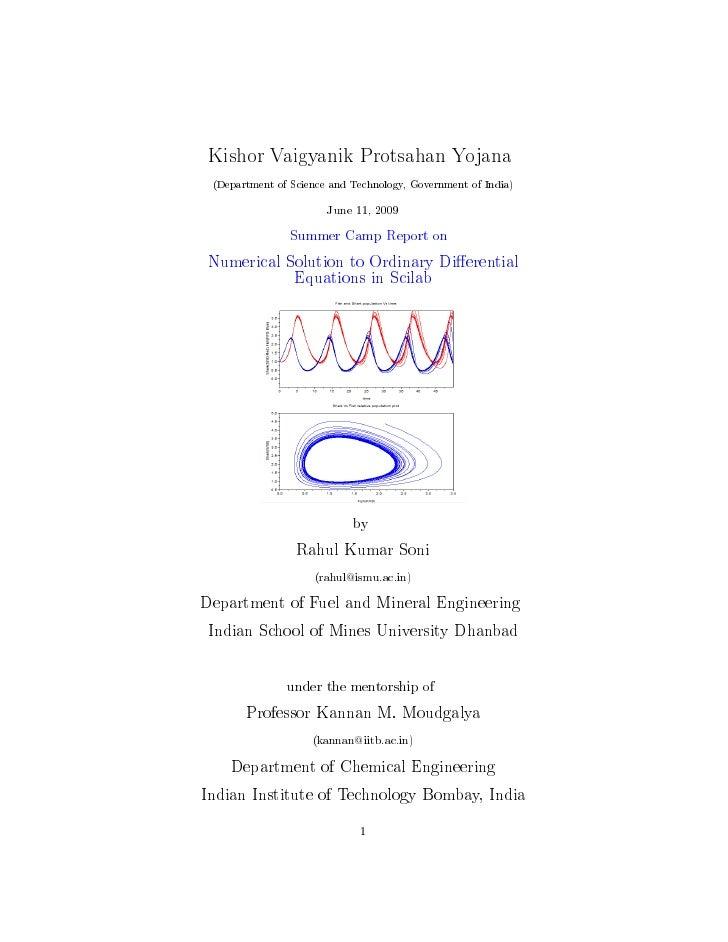 Kishor Vaigyanik Protsahan Yojana  (Department of Science and Technology, Government of India)                         Jun...