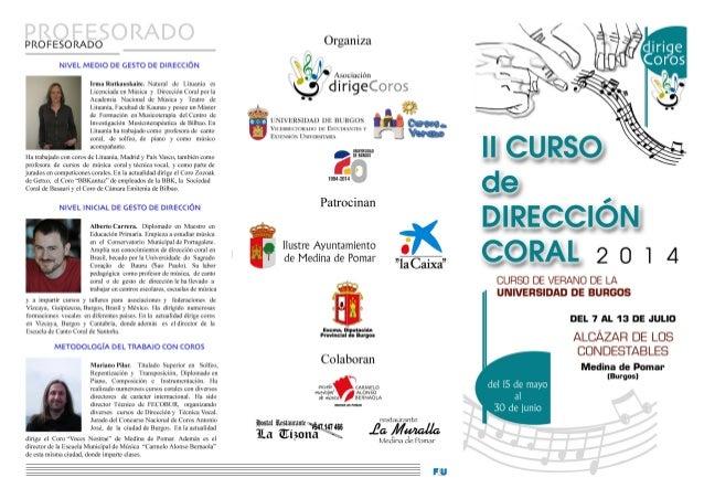 II Curso Dirección Coral. Medina de Pomar