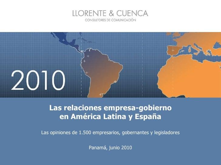 Las relaciones empresa-gobierno en América Latina y España Las opiniones de 1.500 empresarios, gobernantes y legisladores ...