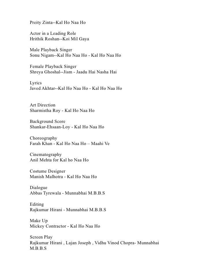 Kal Ho Na Ho Song Lyrics With Chords - UKIndex
