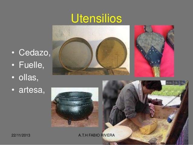 Ii foro turismo para todos cocina colombiana fabio rivera for Utensilios de cocina colombia