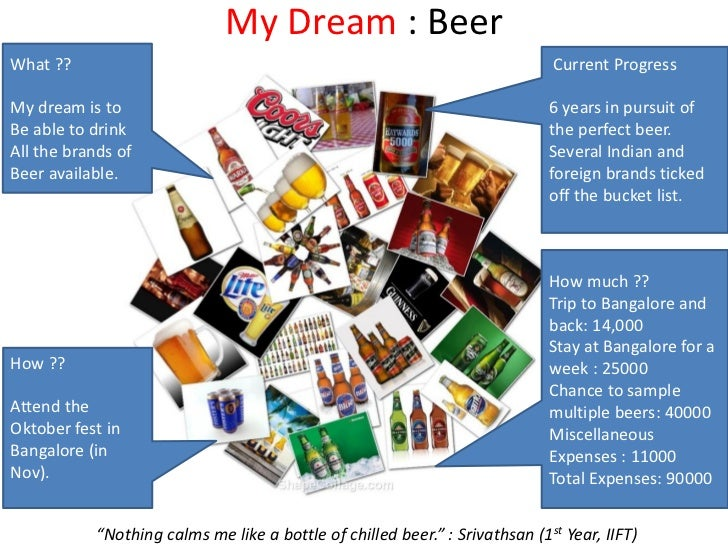 My Dream : BeerWhat ??                                                                       Current ProgressMy dream is t...